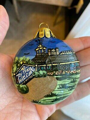National Toy Train Museum Strasburg Rail Road Glass Christmas Ornament ()