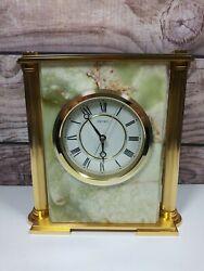 Vintage SEIKO Quartz Marble Desk Mantel Clock Japan QW554M Seikosha