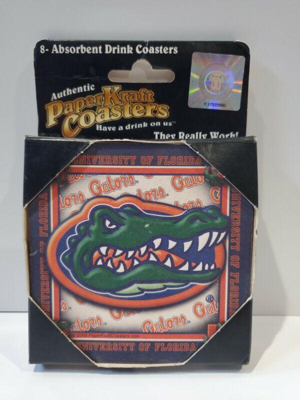 Authentic Paper Kraft Absorbent Drink Coasters Florida Gators College
