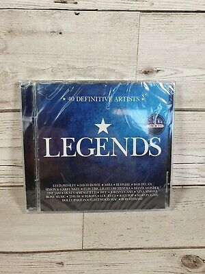 LEGENDS - HMV Exclusive CD 40 Definitive Artists Elvis David Bowie ABBA Blondie