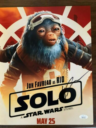 Star Wars Solo Jon Favreau Autographed Signed 11x14 Photo JSA COA #6