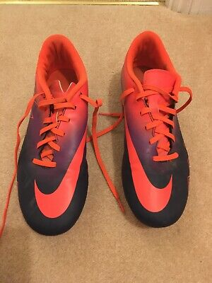 Nike Hypervenom  size Uk 8  Football Boots orange/ purple