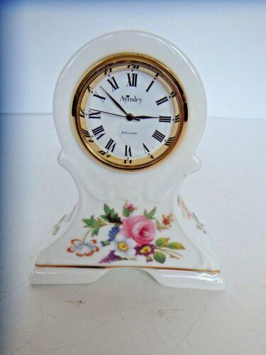Aynsley HOWARD SPRAYS Fine Bone China Clock Made in England.