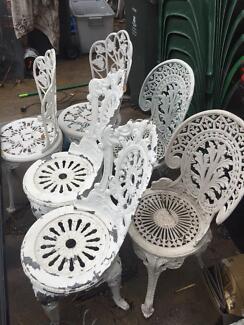 Coalbrookdale Style Aluminium Chairs