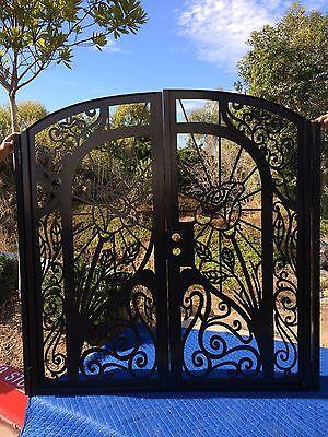 Iron Gate Estate (Metal Gate Custom Dual Entry Garden Estate Walk Thru Wrought Iron Art Steel  )