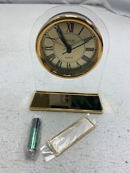 GOLD PLATED ACRYLIC CLOCK BATTERY SMALL