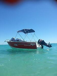 Stacer 4.6 meter sunmaster sport. 50hp 4 stroke Mercury Northbridge Perth City Area Preview