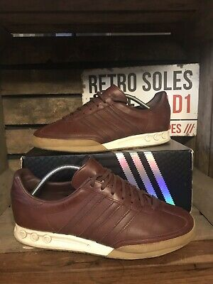 Adidas Originals Kegler Super Tournament Edition Trainers UK 9 Redwood Leather
