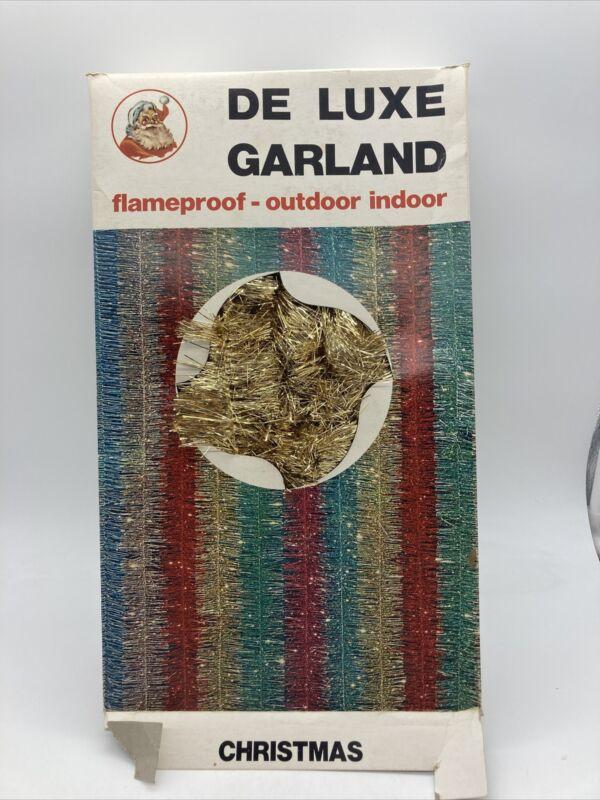 Vintage Tinsel Gold Garland 50