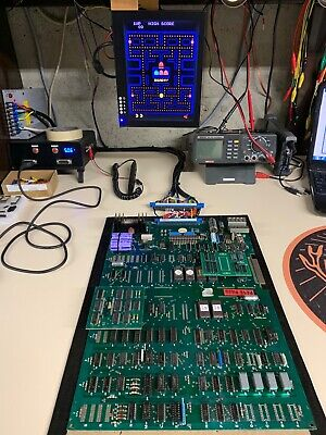 Pac-Man FAST Arcade PCB - Midway Game Board - CLEAN & WORKS 100% Pacman Pac Man