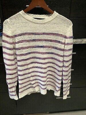 The Elder Statesman Striped Cashmere Sweater - NEW!