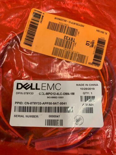 *T8Y33* NEW DELL MPO12 4LC Fiber Optic Cable - 1 Meter  (CBL-MPO12-4LC-OM4-1M)