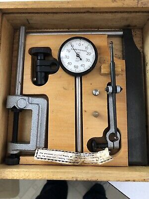 Vintage Craftsman 3868 Plunger Dial Test Indicator Set In Original Box