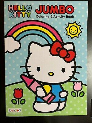 HELLO KITTY JUMBO COLORING & ACTIVITY BOOK CHILDREN KIDS BRAND NEW ART SANRIO