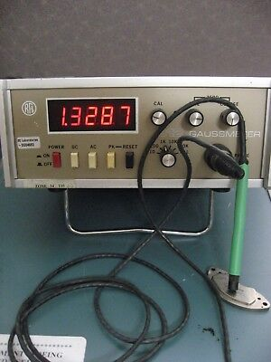 Rfl 912 Gaussmeter Magnetometer And Probe Working Ac-dc Peak 10mg To100kg