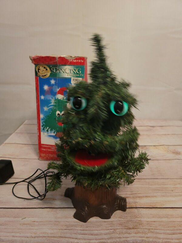 "Original Douglas Fir The Talking Tree Talks, Sings and Dances! Large 17"" Gemmy"