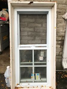 Basement sliding vinyl window
