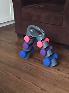 Set of hand weights for sale
