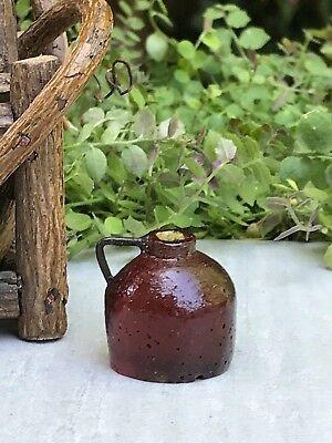 - Miniature Dollhouse FAIRY GARDEN Accessories ~ Mini Rustic Resin Ale Jug ~ NEW