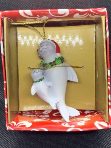 Hawaiian Christmas Ornament Hand Painted Monk Seal