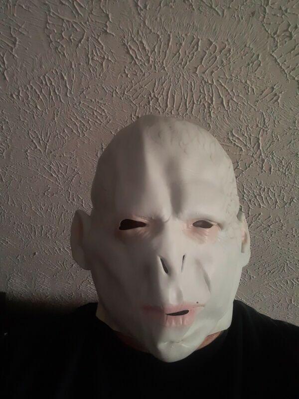 Harry Potter Lord Voldemort Cosplay Latex Mask Costume Halloween Mack Unisex