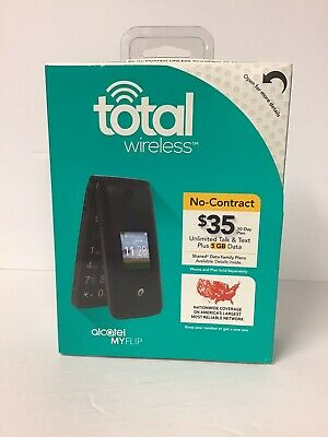 Total Wireless Alcatel A405 MyFlip Prepaid Flip Cell Phone (Brand New)