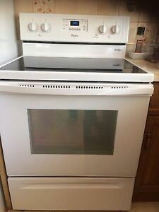 Whirlpool glass cook top stove