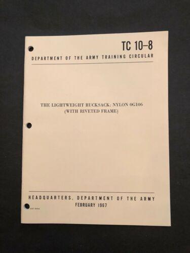 Rucksack Lightweight Frame Nylon (riveted frame) 0G106 TC 10-8 1967 A+ Reprint