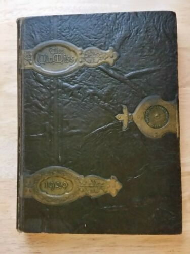 1929 University of Mississippi Yearbook The Ole Miss The All Seeing Eye On Cover