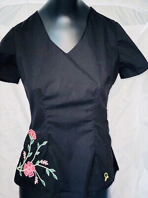 Jannuu Smitten Barco Xs Scrub Top Lot Very Light Preowned Stretch with pockets