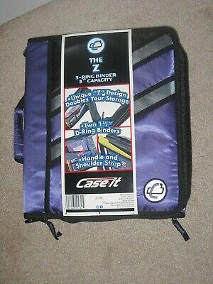 Nwt Case-it The Z 2-in-1 Zipper 3-ring Binder 3 Capacity Purple Z-176