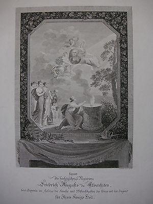 C. A. GÜNTHER ´APOTHEOSE VON FRIEDRICH AUGUST I. VON SACHSEN´ RADIERUNG, 1818