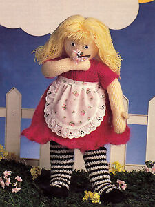 KNITTING PATTERN 8117 Instructions to make RAG DOLL TOY 18 inch 48 cm in DK