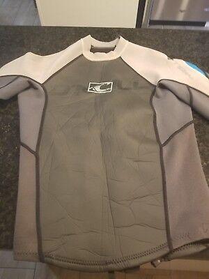 O'neill Bahia Long-sleeve Wetsuit Jacket size small - gray/blue