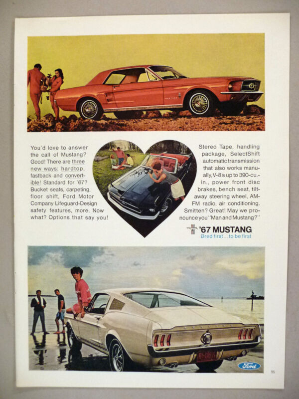 Ford Mustang PRINT AD - 1966 ~ 1967 model