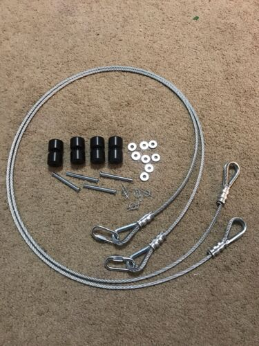 2 Replacement Cables and 2 Roller Sets For Gorilla Lift - with EZ Spring Clip