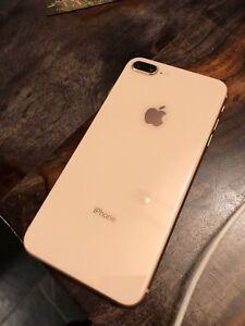 Iphone 8+ rose gold 256gb