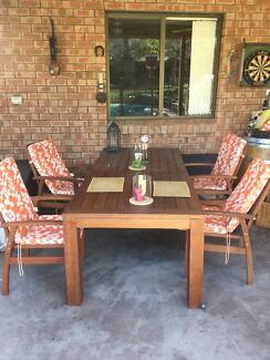 Dining table for outdoor , extendable from 2,25 to 3 m 8 chairs Putney Ryde Area Preview