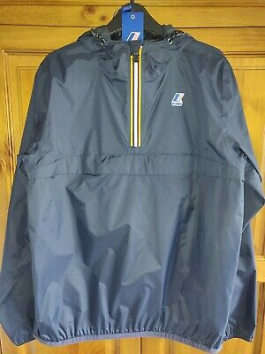 K - way Cagoul Jacket coat 80s Casual Smock (M) Classic Vintage BNWT navy blue .