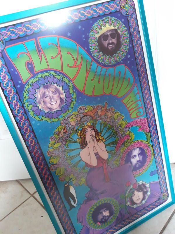 Fleetwood Mac Live Music Large Vintage Poster Customed Framed Rare