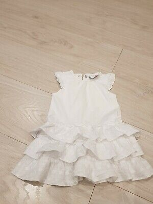 Mädchen Kleid Baby  Sommerkleid  weiß  gr.74  Topomini (Weiße Baby-sommer-kleid)