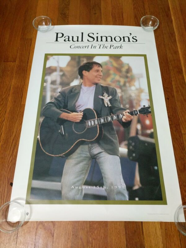 Paul Simon 1991 Concert In The Park Original Promo Poster 23x35 inches