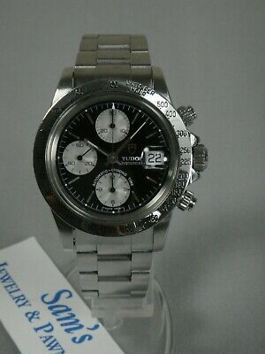 TUDOR 79180  OysterDate Automatic-Chrono Time Big Block Watch Tested Excellent -