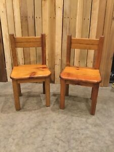 Solid wood children's chairs