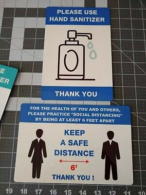 Safety Signs For Retail Business - Hand Washing Social Distance Face Mask