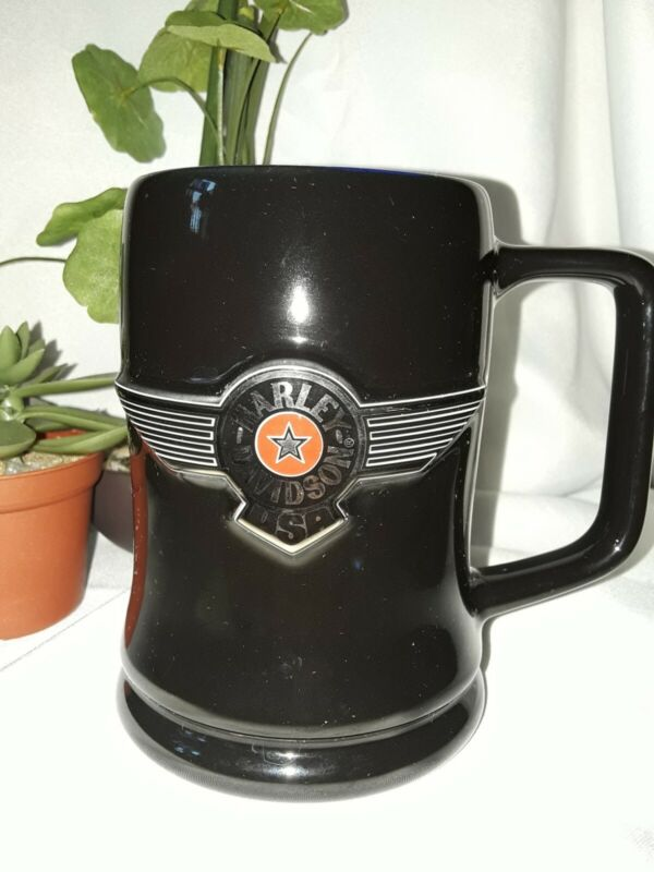 🦅 Harley-Davidson Large Mug Black/Blue EUC 🦅