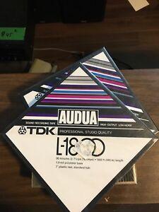 Deux bobine audua TDK 7. 1/2