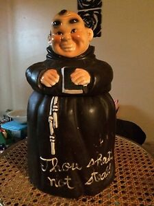 """Monk """" thou shall not steal"""" cookie jar"""