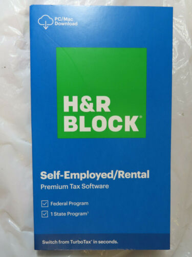 H&R BLOCK 2020 SELF-EMPLOYED RENTAL PREMIUM TAX SOFTWARE FEDERAL STATE BRAND NEW