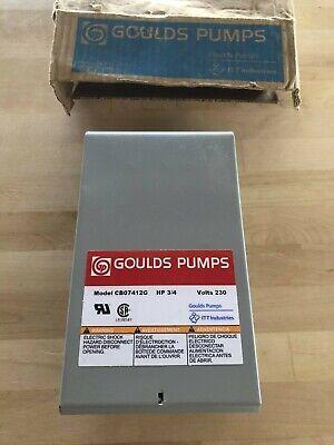 Goulds Pumps Cb07412g 34hp Quick Disconnect Control Box 230v